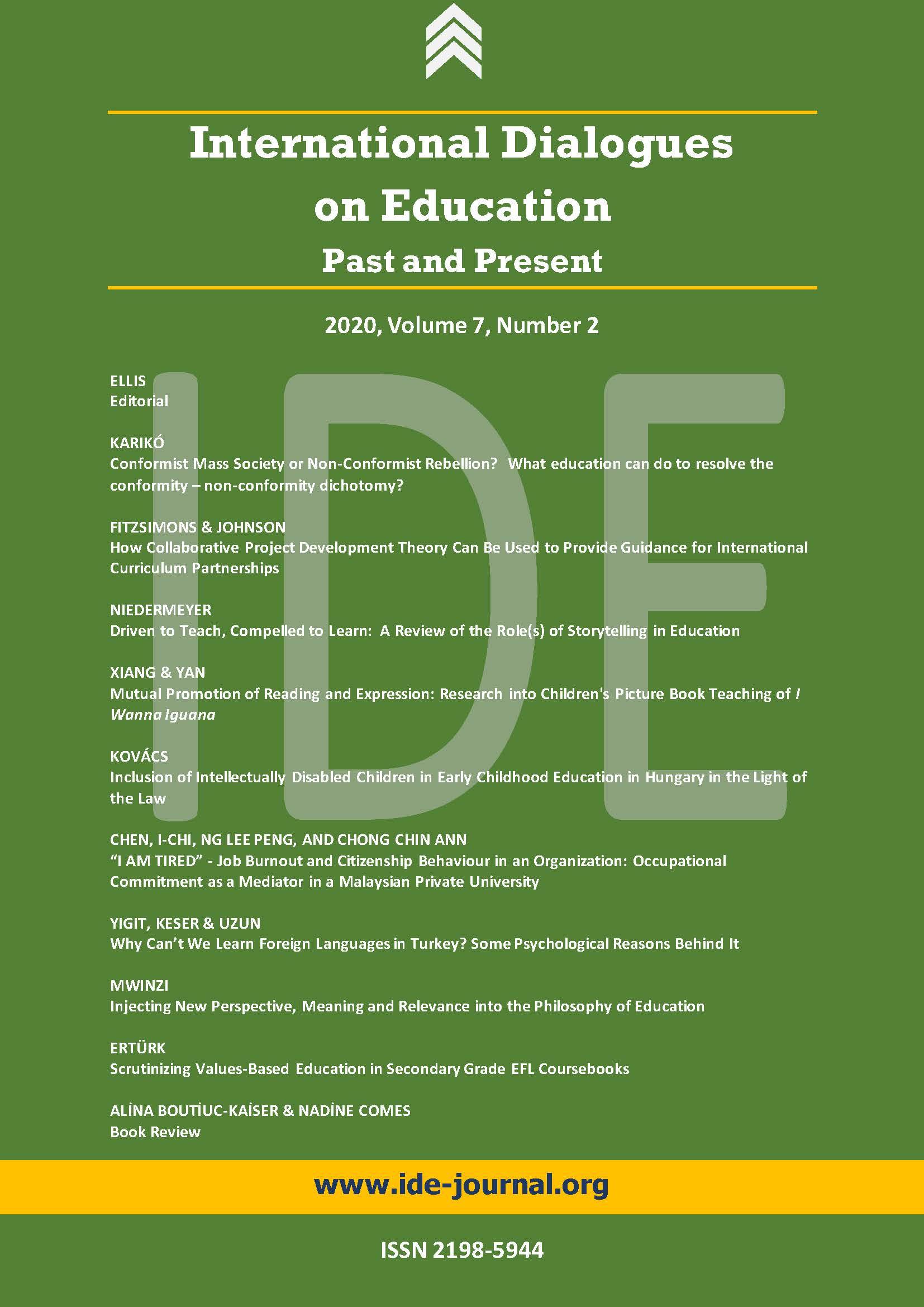 View Vol. 7 No. 2 (2020): IDE