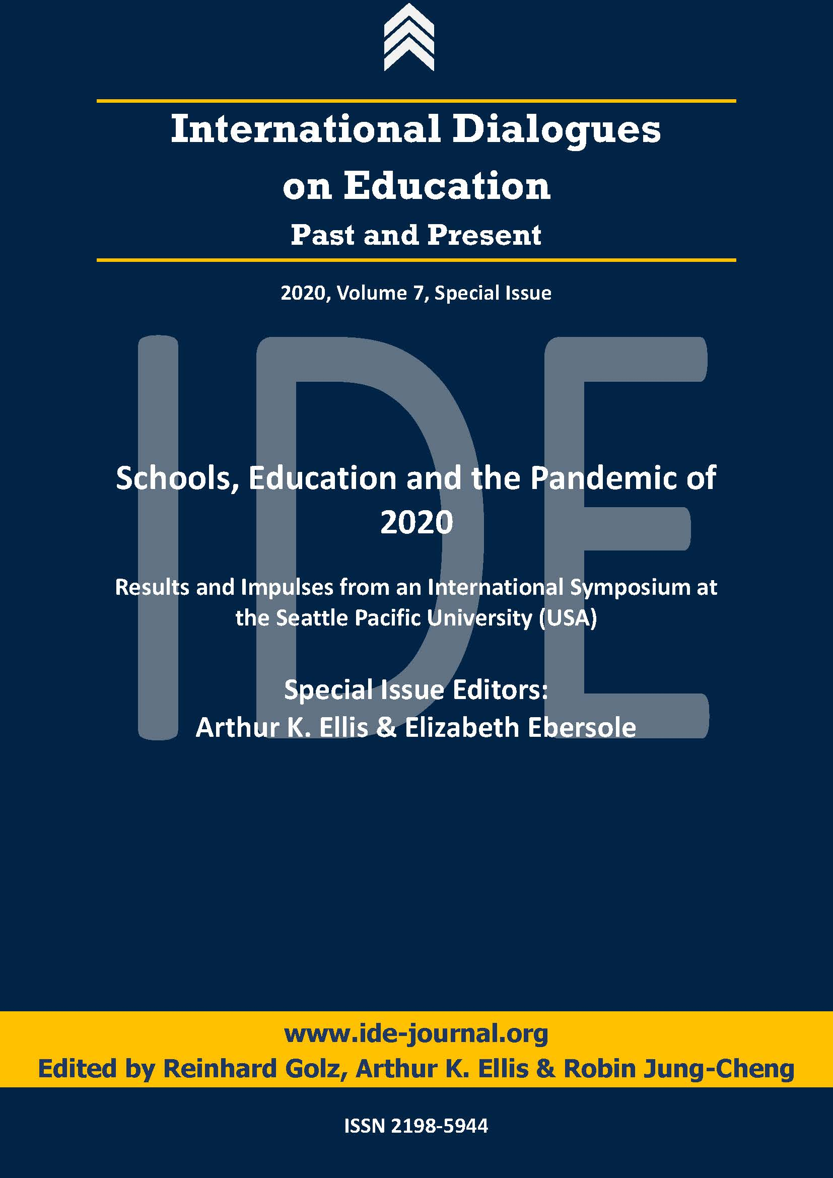 View Vol. 7 No. 1/2 (2020): Special Issue: Schools, Education and the Pandemic of 2020